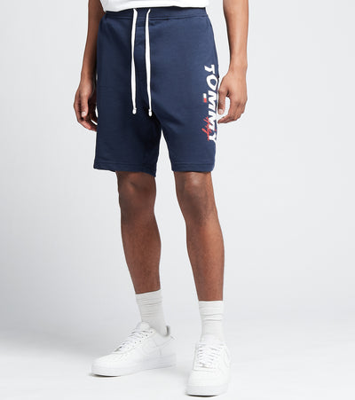 Tommy  Elastic Waist Logo Shorts  Navy - 09T4049-410 | Jimmy Jazz