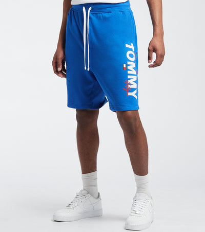 Tommy  Elastic Waist Logo Shorts  Blue - 09T4049-433 | Jimmy Jazz