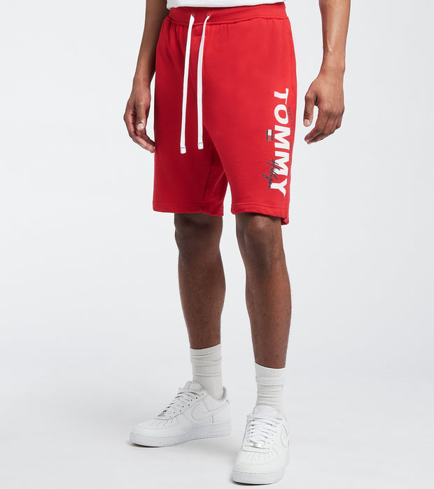Tommy  Elastic Waist Logo Shorts  Red - 09T4049-608 | Jimmy Jazz