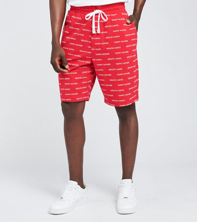 Tommy  Tommy Print Elastic Waist Shorts  Red - 09T4118-608 | Jimmy Jazz