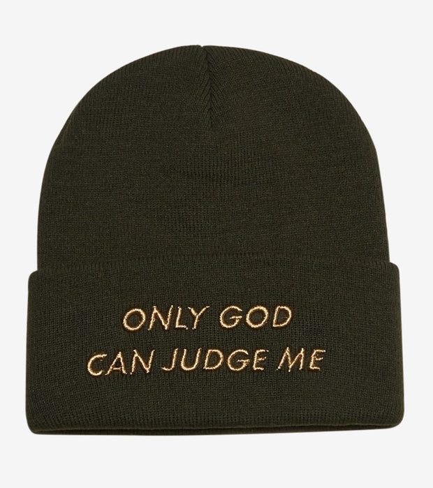 Field Grade  Only God Can Judge Me Skully  Green - 1002209 | Jimmy Jazz