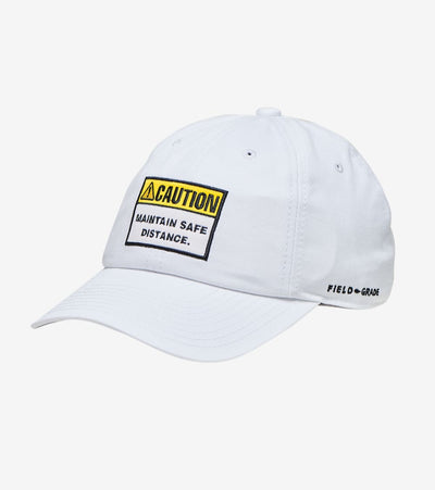 Field Grade  Caution Maintain Safe Distance Dad Hat  White - 1002361 | Jimmy Jazz