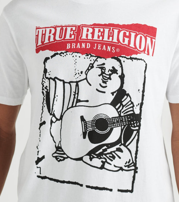 True Religion  Short Sleeve Painted Buddha Crew Neck  White - 1027681700-WHT | Jimmy Jazz