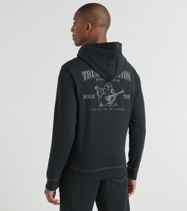 True Religion  Classic Logo Zip Up Hoodie  Black - 1030691001-BLK | Jimmy Jazz