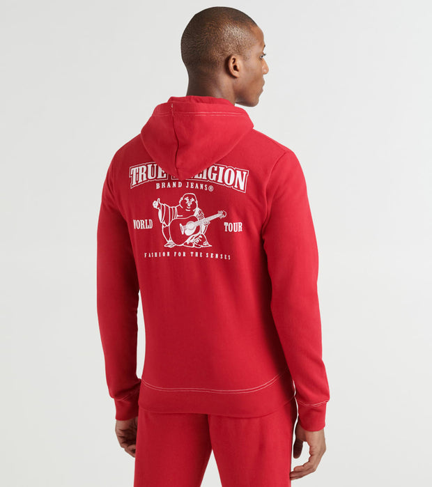 True Religion  Classic Logo Zip Up Hoodie  Red - 1030696000-RUB | Jimmy Jazz