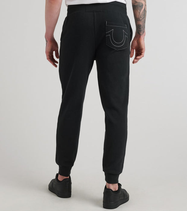 True Religion  Classic Logo Jogger Sweatpant  Black - 1030701001-BLK | Jimmy Jazz