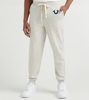 True Religion  Classic Logo Jogger Sweatpants  Grey - 1030702707-OAT | Jimmy Jazz