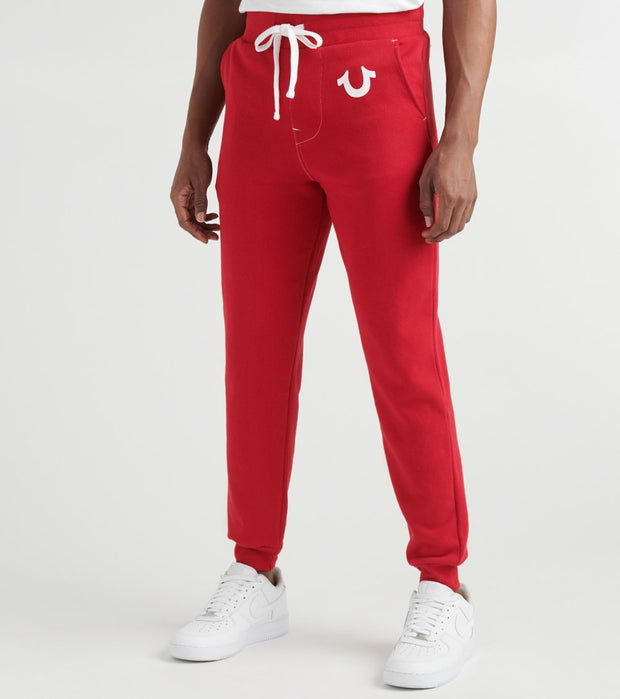 True Religion  Classic Logo Jogger Sweatpants  Red - 1030706000-RUB | Jimmy Jazz