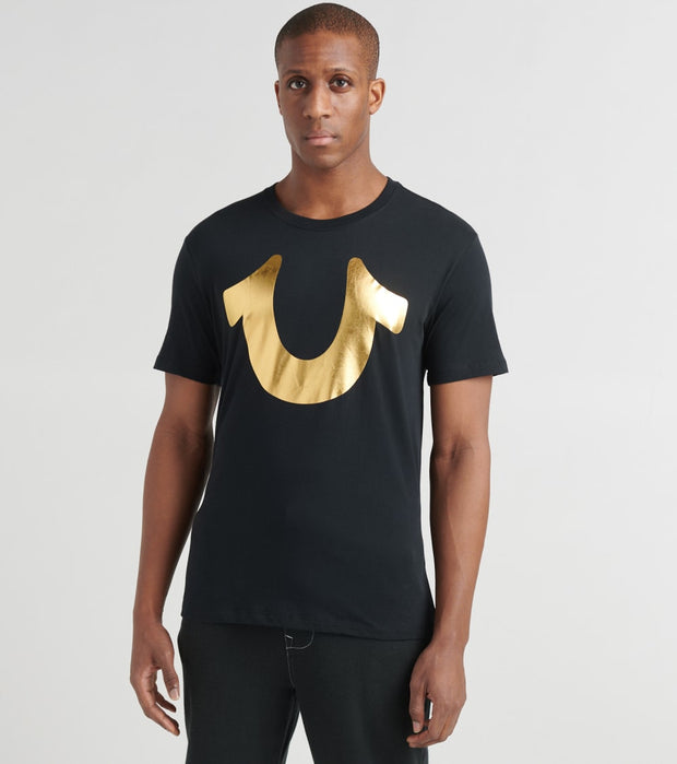 True Religion  Gold Horseshoe Tee  Black - 1030731001-BLK | Jimmy Jazz