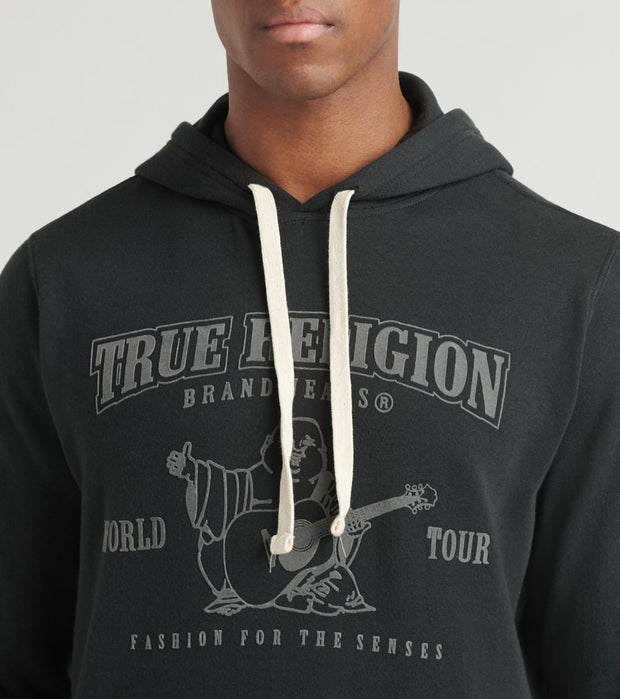 True Religion  Long Sleeve Pullover Hoodie  Black - 1031231001-BLK | Jimmy Jazz