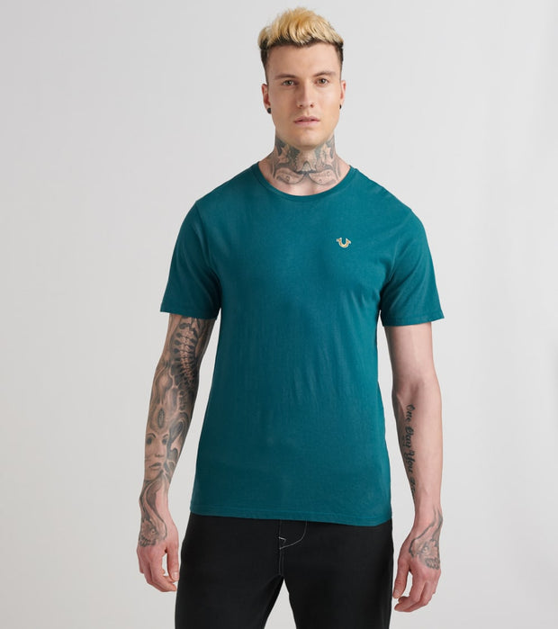 True Religion  Basic Buddha Crew Neck Tee  Green - 1032953003-MGR | Jimmy Jazz