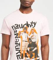 Merch Traffic  Naughty by Nature Short Sleeve Tee  Pink - 10330066-PNK | Aractidf