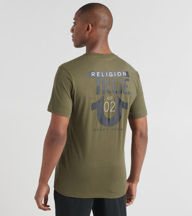 True Religion  Logo True Religion Crew Tee  Green - 1033083106-MIG | Jimmy Jazz