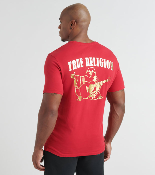True Religion  Gold Foil Buddha Tee  Red - 1037126000-RUB | Jimmy Jazz