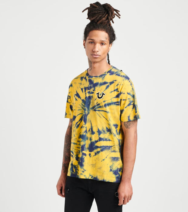True Religion  Buddha Tie-Dye Crew Tee  Gold - 104789-7107 | Jimmy Jazz