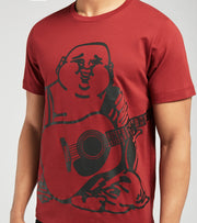 True Religion  Oversized Buddha Logo Tee  Red - 105078-6482 | Jimmy Jazz