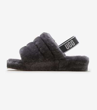 Ugg  Fluff Yeah Slide  Grey - 1095119-CHRC | Jimmy Jazz
