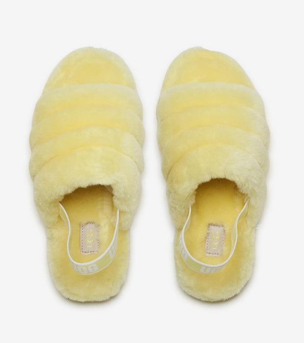 Ugg  Fluff Yeah Slide  Yellow - 1098494K-LEMA | Jimmy Jazz