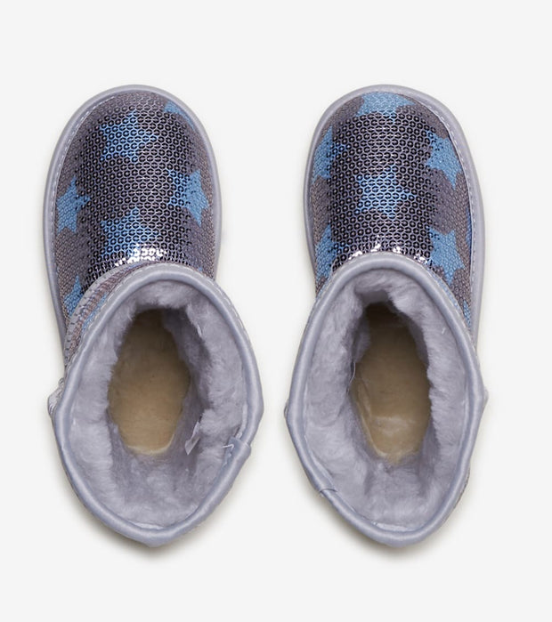 Ugg  Classic Short II Sequin  Blue - 1107988T-DMB | Jimmy Jazz
