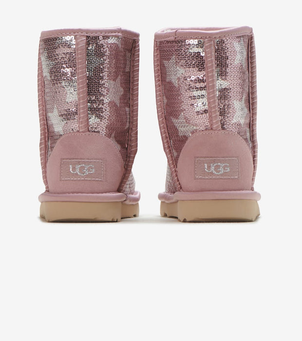 Ugg  Classic Short II Sequin  Pink - 1107988T-PCRY | Jimmy Jazz