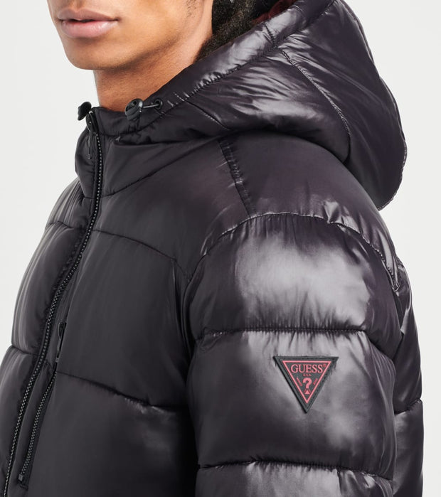 Guess  Puffer Shine Jacket  Black - 110AN098-BLK | Jimmy Jazz