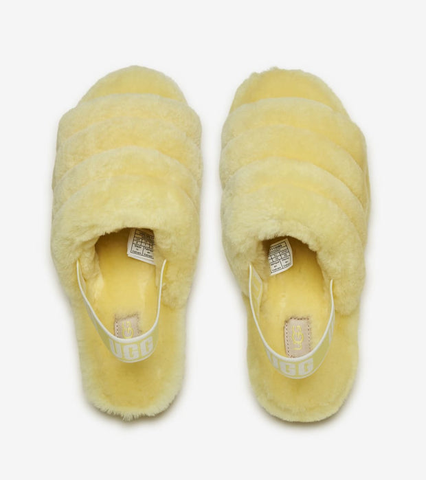Ugg  Fluff Yeah Slide Neon  Yellow - 1110085-NEYL | Jimmy Jazz