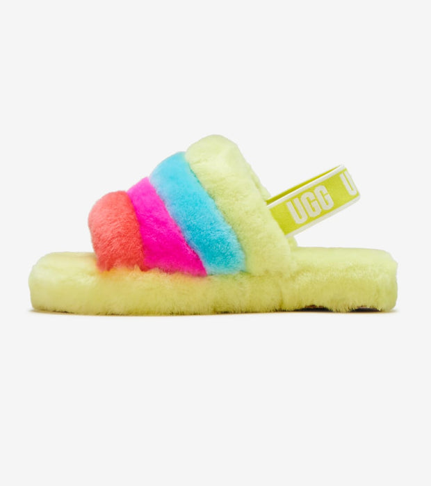 Ugg  Fluff Yeah Slide  Green - 1116570K-NRN | Jimmy Jazz