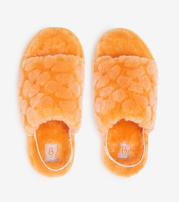 Ugg  Fluff Yeah Slide Poppy  Orange - 1119839K-CPPP | Jimmy Jazz