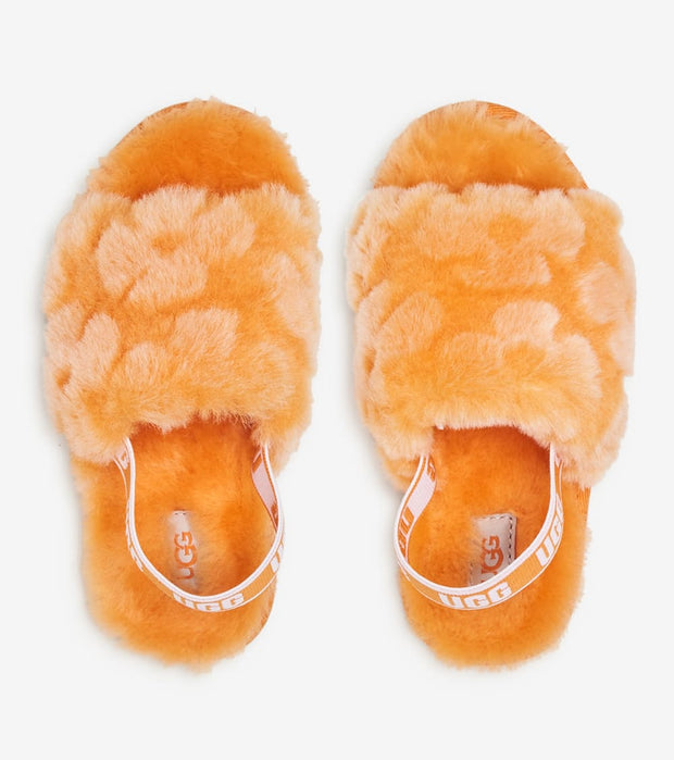 Ugg  Fluff Yeah Slide Poppy  Yellow - 1120011T-CPPP | Jimmy Jazz