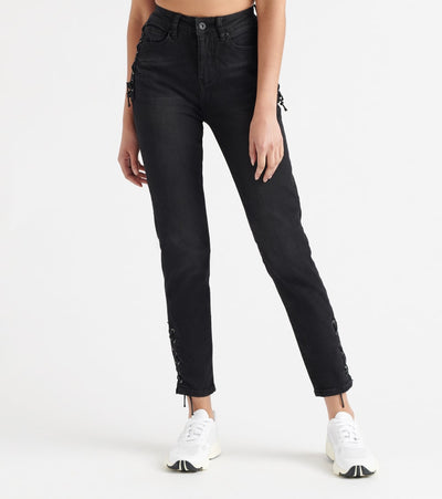 Funky Soul  Side-Drawstring Denim Jeans  Black - 112008701-BLK | Jimmy Jazz