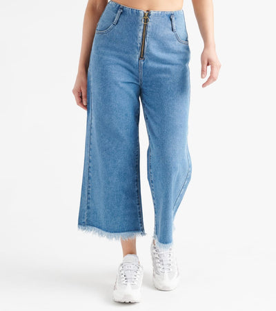 Funky Soul  No Waist Denim Palzzo Jeans  Blue - 112012401-MDB | Jimmy Jazz