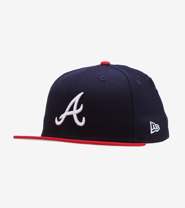 New Era  Atlanta Braves Fitted Cap  Navy - 11941911-ERA | Jimmy Jazz