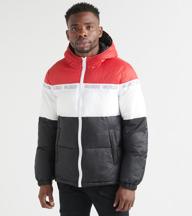 Guess  Color Block Puffer Guess All Around  Red - 119RN310-RED | Jimmy Jazz