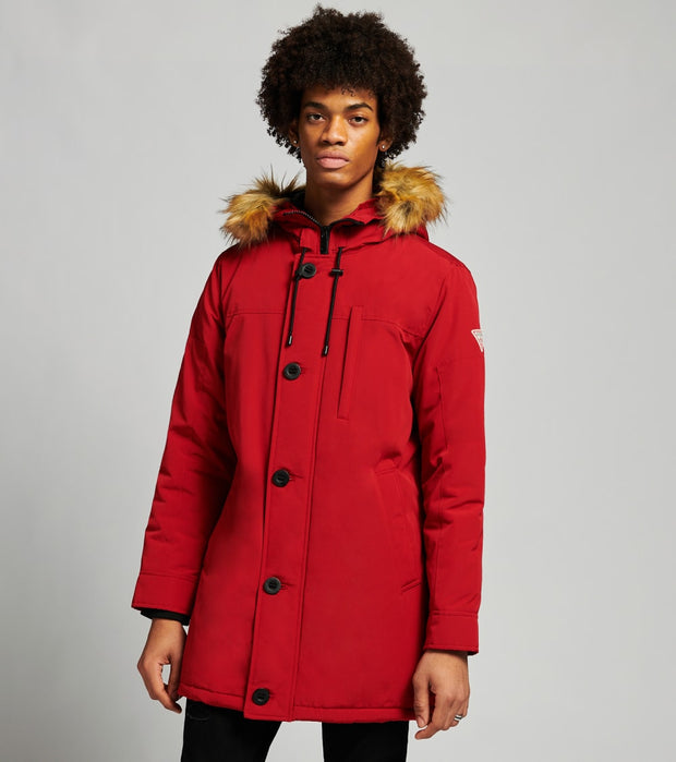 Guess  Long Snorkel Jacket  Red - 119RP325-RED | Jimmy Jazz