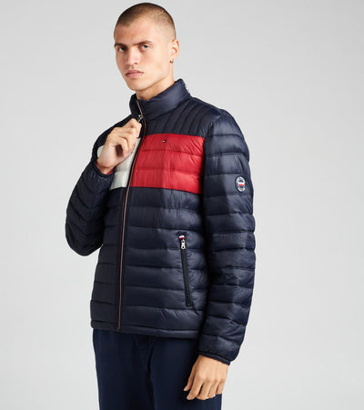 Tommy Hilfiger  Nylon Logo Packable Jacket  Navy - 150AN796-NF1 | Jimmy Jazz