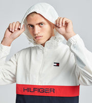 Tommy Hilfiger  Nylon Logo Packable Zipper Jacket  White - 159AN703-WHT | Jimmy Jazz