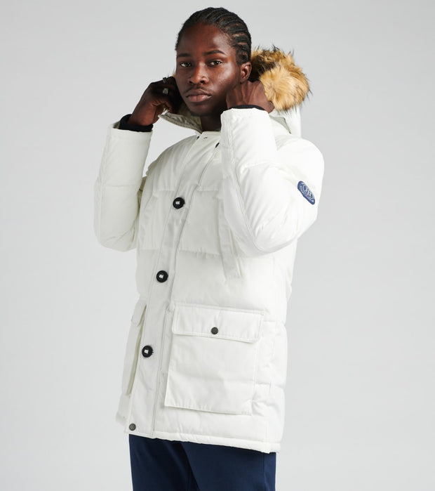 Tommy Hilfiger  Long Snorkel Jacket   White - 159AP468-WHT | Jimmy Jazz