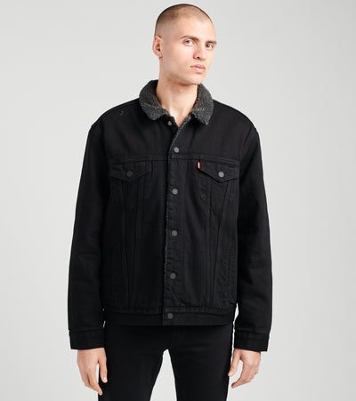 Levis  Sherpa Denim Trucker Jacket  Black - 16365-0054 | Jimmy Jazz