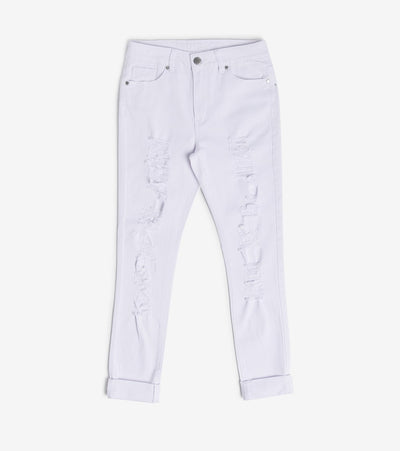 Essentials  Destructed Skinny Jeans  White - 16479WHT-WHT | Jimmy Jazz