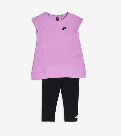 Nike  Infant Girls Dress and Leggings Set  Purple - 16C084-P3R | Jimmy Jazz