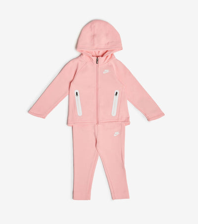 Nike  Infant Girls NSW Tech Fleece Hoodie Set  Pink - 16D736-A6P | Jimmy Jazz