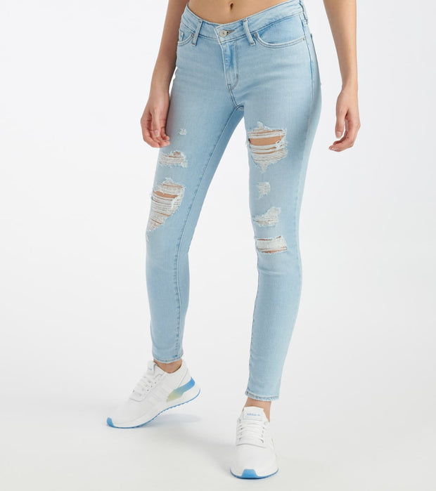 Levis  711 Skinny Trashed Jeans  Blue - 18881-0522 | Jimmy Jazz