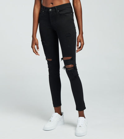 Levis  711 Destructed Skinny Jeans   Black - 18881-0530 | Jimmy Jazz