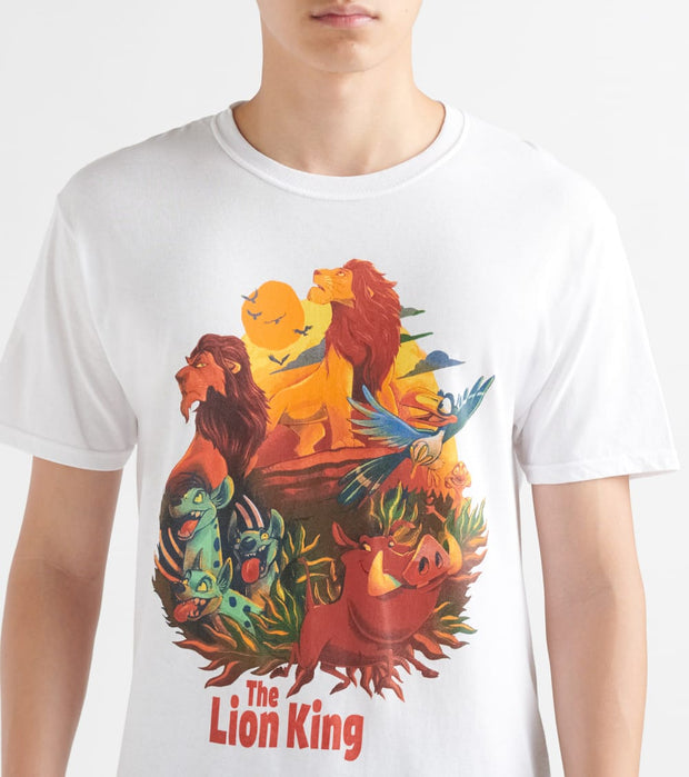 Fifth Sun  Lion Time Tee  White - 18PXLK00225A-001 | Jimmy Jazz