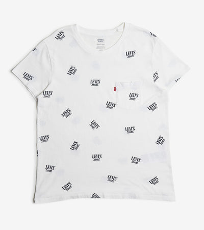 Levis  2 Horse All Over Print Logo Tee  White - 19364-0130 | Jimmy Jazz