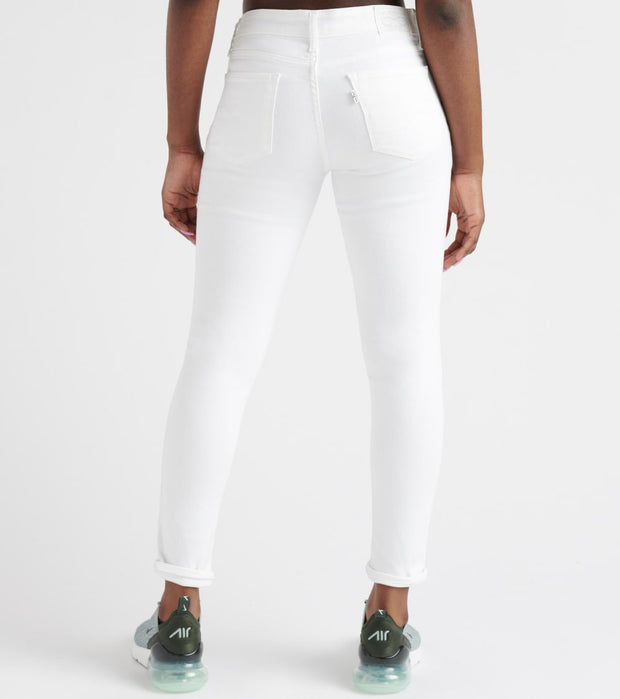 Levis  711 Destructed Skinny Ankle Jeans  White - 19558-0067 | Jimmy Jazz