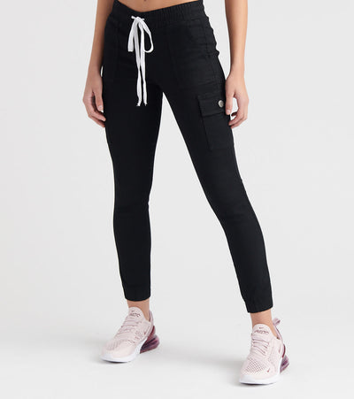 Essentials  CARGO DRAWSTRING JOGGER  Black - 2-80267SBK | Jimmy Jazz