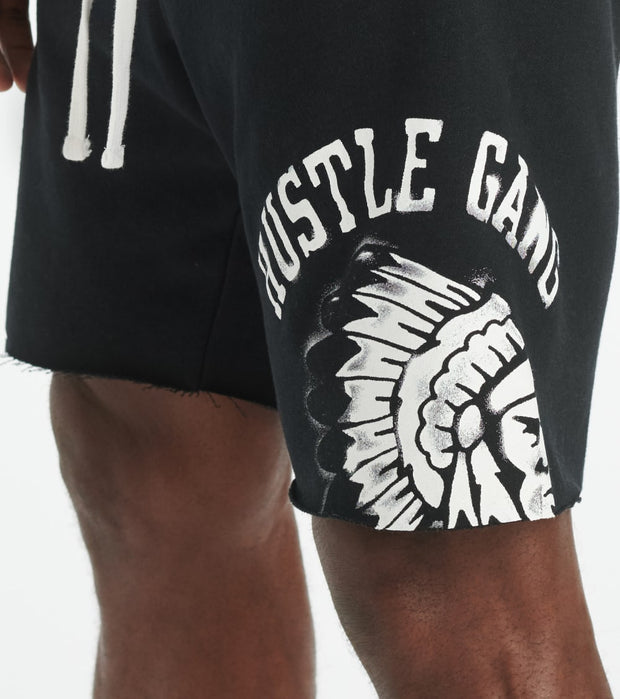 Hustle Gang  Custom Air Short  Black - 2011108-BLLK | Jimmy Jazz