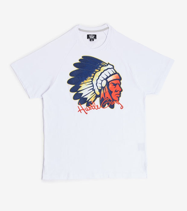 Hustle Gang  Psycho Chief Short Sleeve Knit  White - 2011304-BWT | Jimmy Jazz