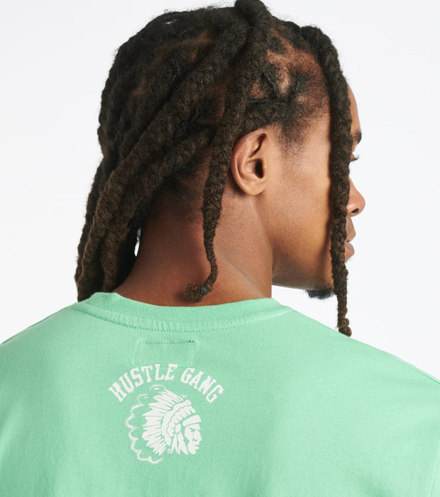 Hustle Gang  Street Wolf Knit Tee  Green - 2011309-GRN | Jimmy Jazz